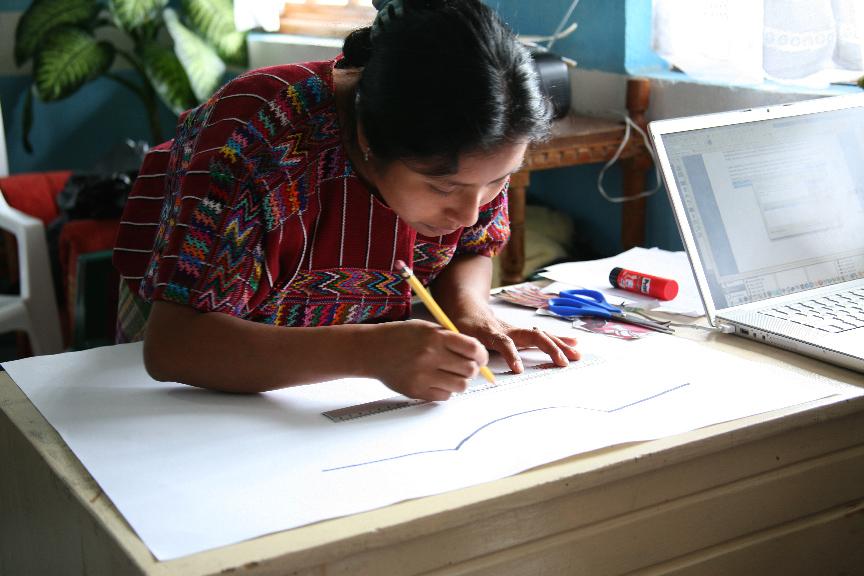 artisan making new design